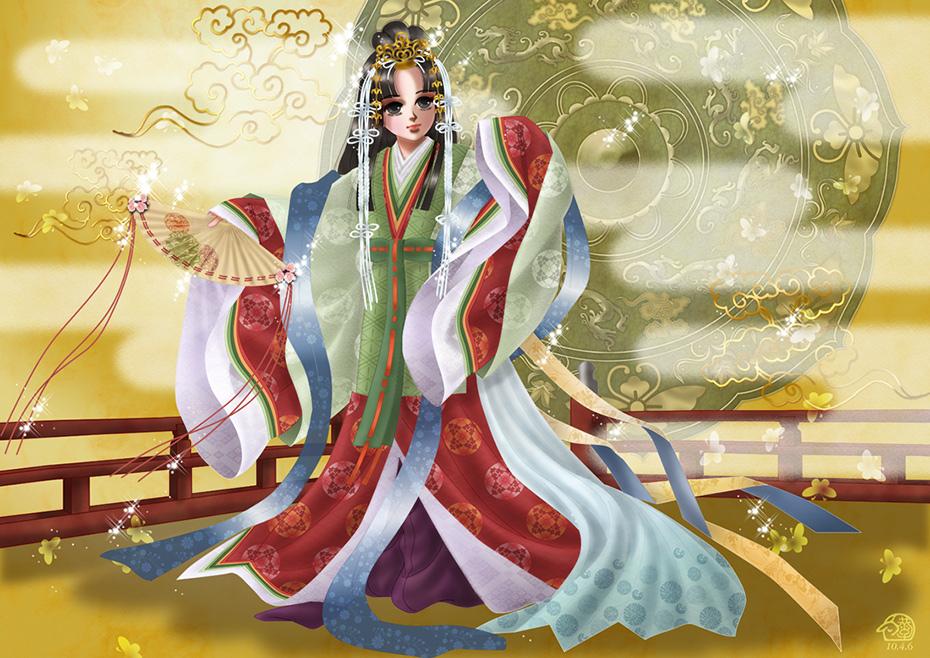 五節の舞姫 4~5人の舞姫によって舞われる舞。大嘗祭では5 人。